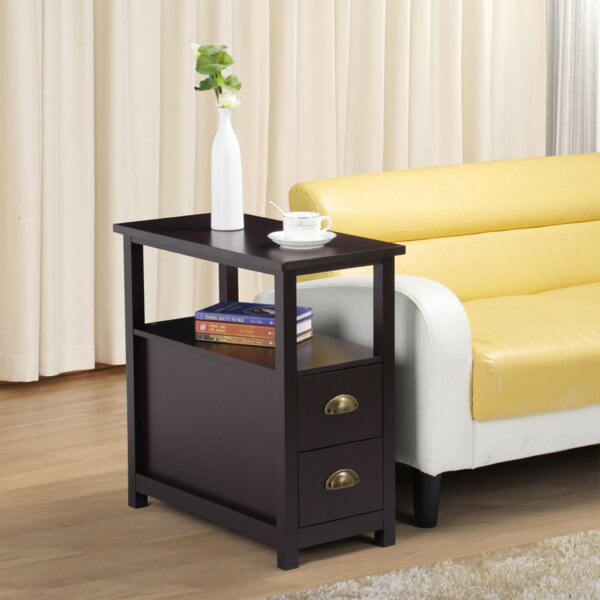 Trammel End Table with Storage by Winston Porter