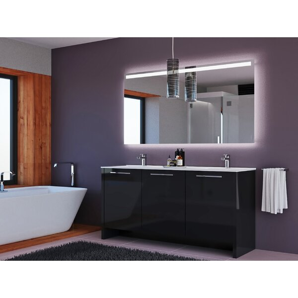 Westward 63 Double Bathroom Vanity Set with Mirror by Orren Ellis