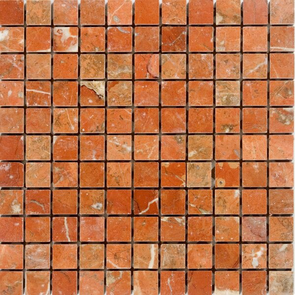 1 x 1 Marble Mosaic Tile in Polished Orange by Epoch Architectural Surfaces