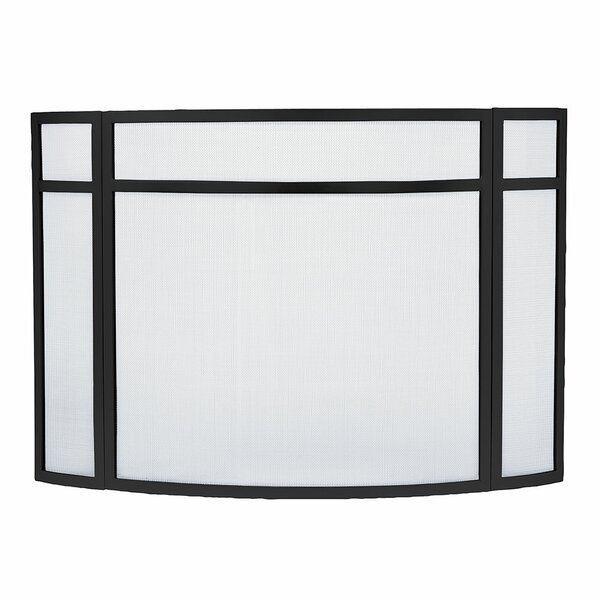 Alasdhair 3 Panel Iron Fireplace Screen By Latitude Run