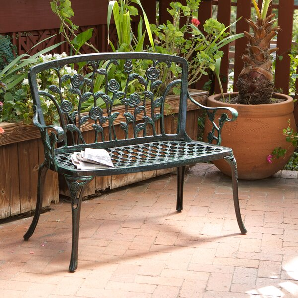 Lussan Aluminum Garden Bench by August Grove