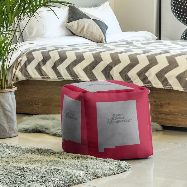 Las Cruces New Mexico Cube Ottoman By East Urban Home