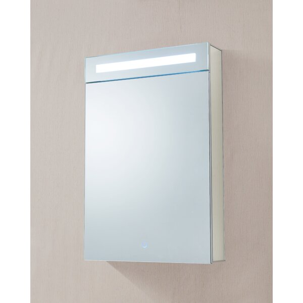 Dahlstrom 20 x 30 Recessed/Surface Mount Medicine Cabinet with LED Lighting by Orren Ellis