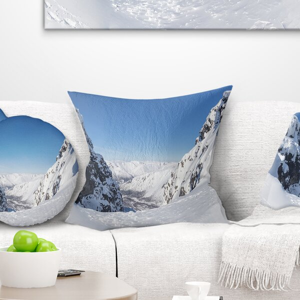 Landscape Printed Pass in the Northern Winter Hills Pillow by East Urban Home
