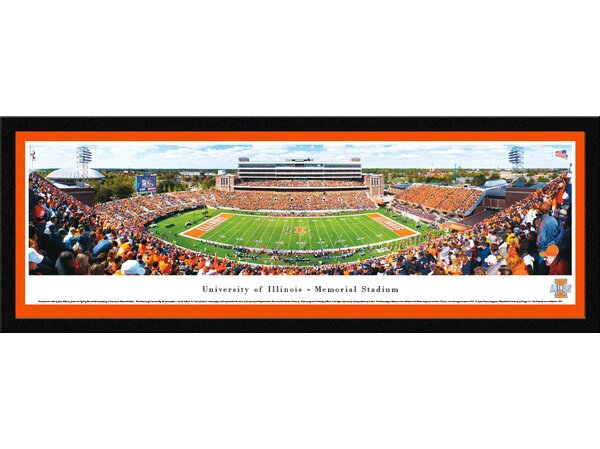 NCAA Illinois, University of - Football by James Blakeway Framed Photographic Print by Blakeway Worldwide Panoramas, Inc