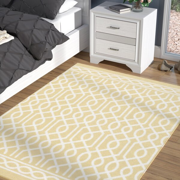 Chaunce Twisted Rope Sunset Yellow Area Rug by Willa Arlo Interiors