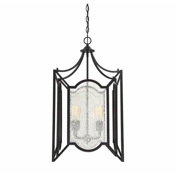 Guyer 4 - Light Lantern Geometric Chandelier by Charlton Home Charlton Home
