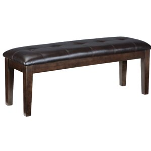 Bartons Bluff Wood/Upholstered Bench by Red Barrel Studio