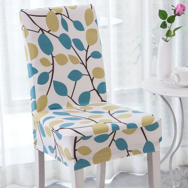 Elegant Box Cushion Dining Chair Slipcover by Eber