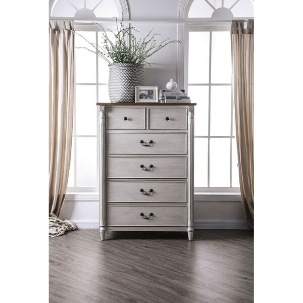 Orson Dual Tone Wooden 6 Drawer Chest by One Allium Way