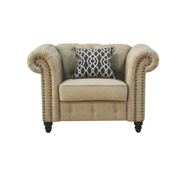 Irenee Armchair with Pillow by Lark Manor