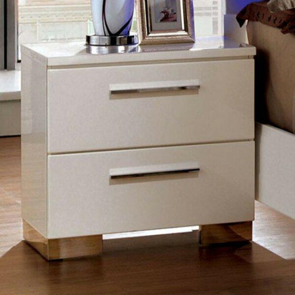 Carpenter 2 Drawer Nightstand by Orren Ellis