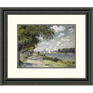 'The Seine at Argenteuil' by Claude Monet Framed Painting Print by Global Gallery