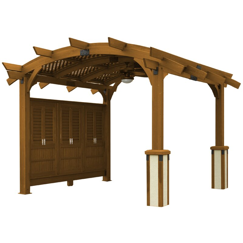 The Outdoor Greatroom Company Sonoma 16 Ft W X 16 Ft D Solid Wood Pergola Reviews Wayfair