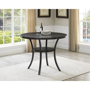 Counter height round kitchen dining tables youll love wayfair tasha round wood counter height dining table workwithnaturefo