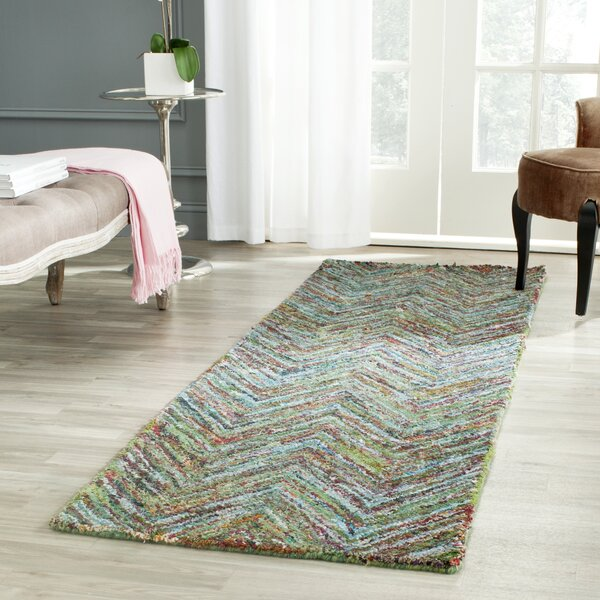 Sergio Hand-Tufted Multi/Blue Area Rug by World Menagerie