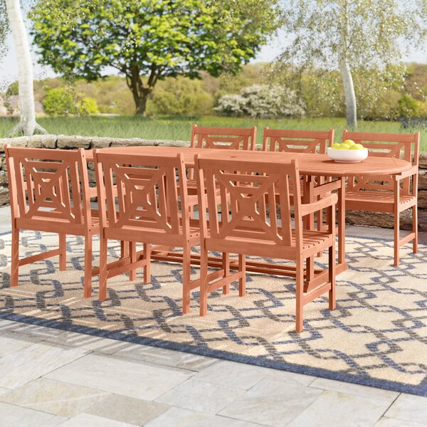 Amabel Extendable 7 Piece Eucalyptus Hardwood Dining Set by Beachcrest Home