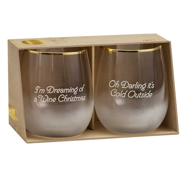 Frosted Rocks 2 Piece 10 oz. Glass Every Day Glasses Set by Floor 9