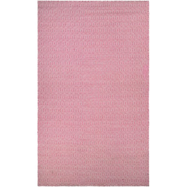 Alonso Hand-Woven Reversible Pink Indoor/Outdoor Area Rug by Viv + Rae