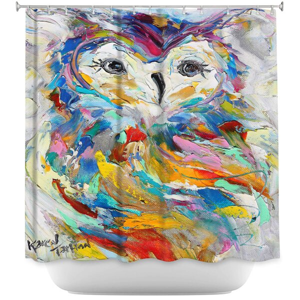 Owl Whimsy Shower Curtain by East Urban Home