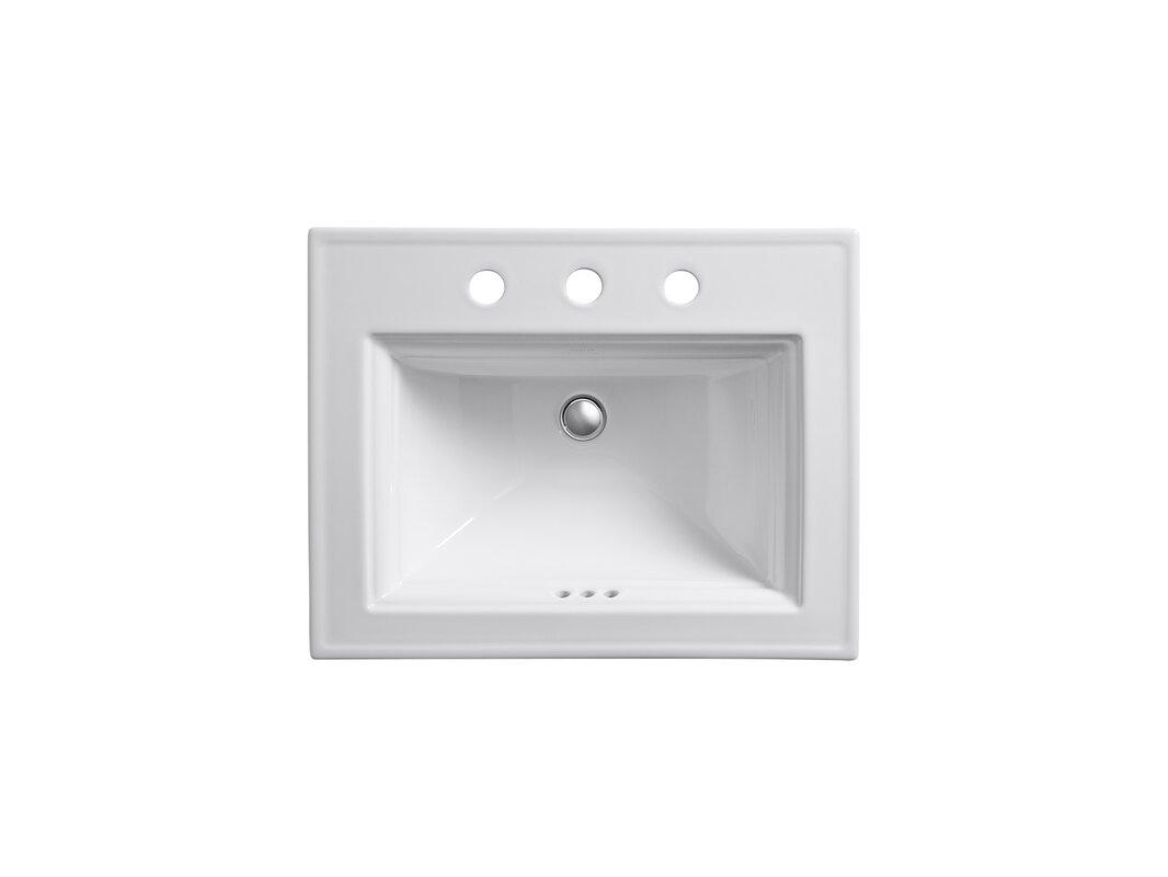 Kohler Memoirs Ceramic Rectangular Drop In Bathroom Sink With Overflow Reviews