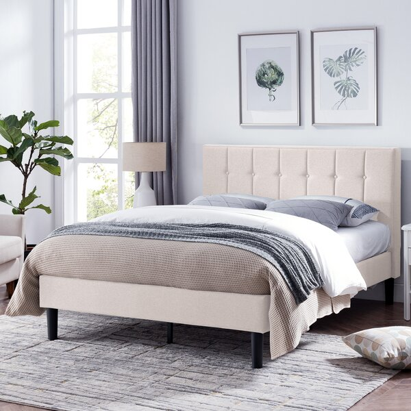 Geno Queen Upholstered Standard Bed by Charlton Home