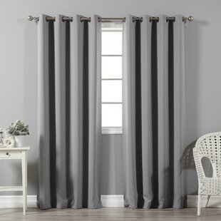 Superieur Solid Blackout Thermal Grommet Curtain Panels (Set Of 2)