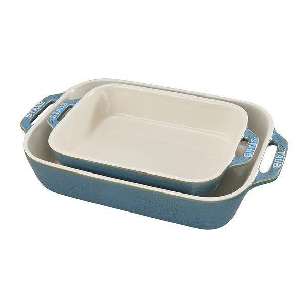 2 Piece Rectangular Baking Dish Set by Staub