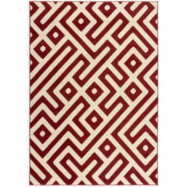 Kile Backless Red Indoor/Outdoor Area Rug