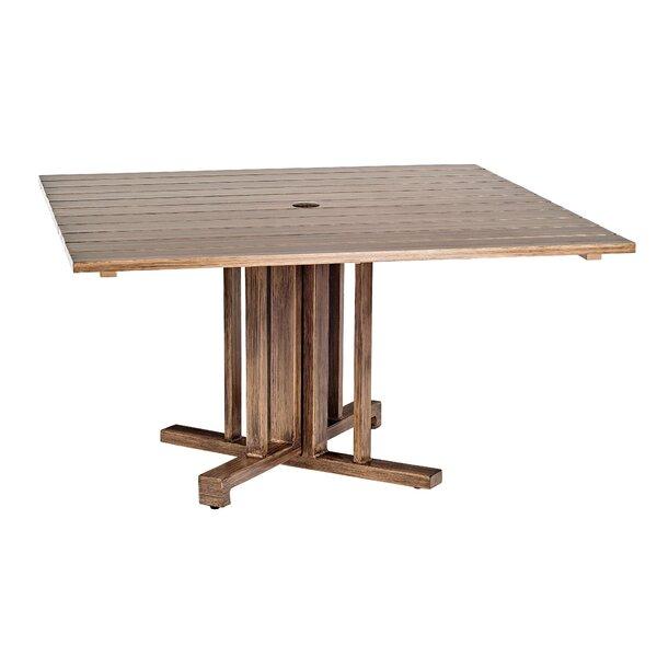 Woodlands Square Aluminum Umbrella Table by Woodard