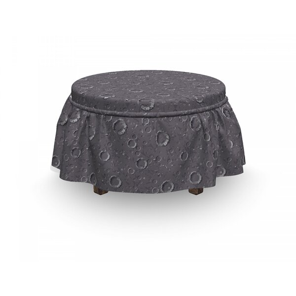 Space Asteroid Surface Crater 2 Piece Box Cushion Ottoman Slipcover Set By East Urban Home