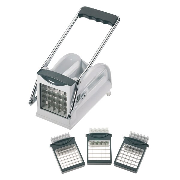 French Fry Cutter with 3 Stainless Steel Blades by Westmark