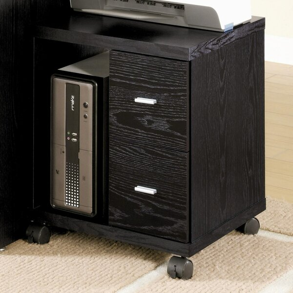 Simply Defined CPU Stand with 2 Drawer by Benzara