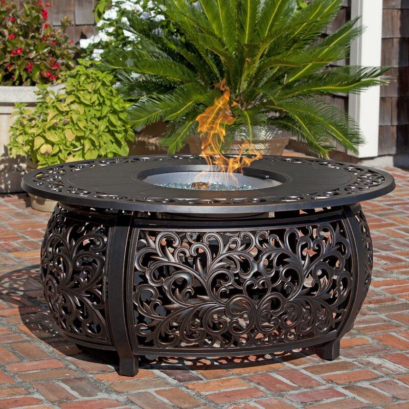 propane fire pit table Fire Sense Toulon Aluminum Propane Fire Pit Table & Reviews | Wayfair propane fire pit table