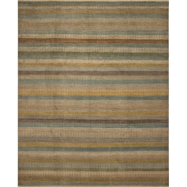 One-of-a-Kind Wendel Fine Oushak Yasmin Hand-Knotted Beige Area Rug by Loon Peak