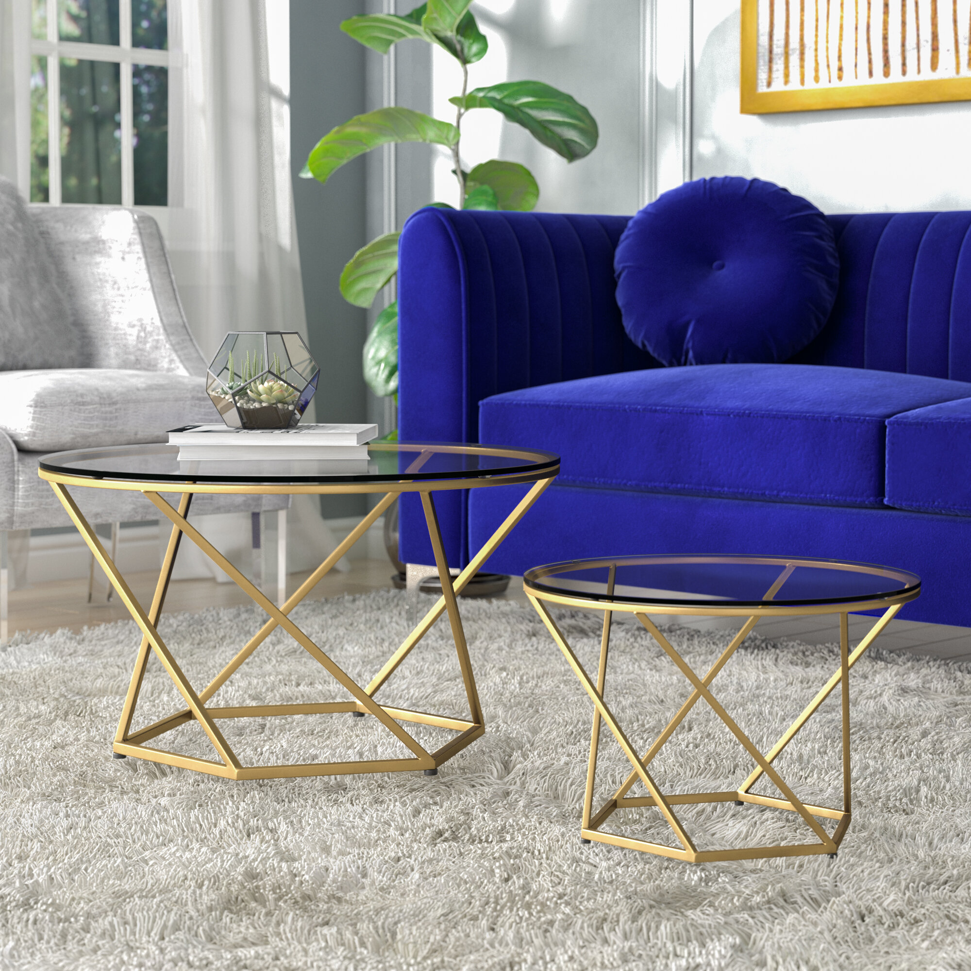 Everly Quinn Adrianna 2 Piece Coffee Table Set U0026 Reviews | Wayfair