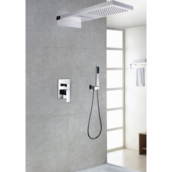 Contemporary/Modern Volume Control Rain Shower Head Complete Shower System by Sumerain International Group