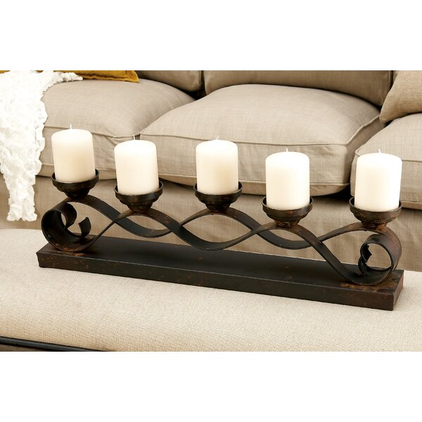 Five Candle Centerpiece Candelabra by Fleur De Lis Living
