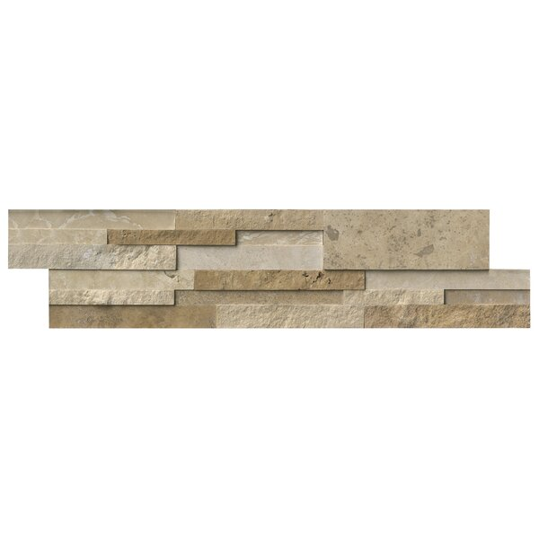 Casa 6 x 24 Blend 3D Panel Random Sized Natural Stone Splitfaced Tile in Multi by MSI