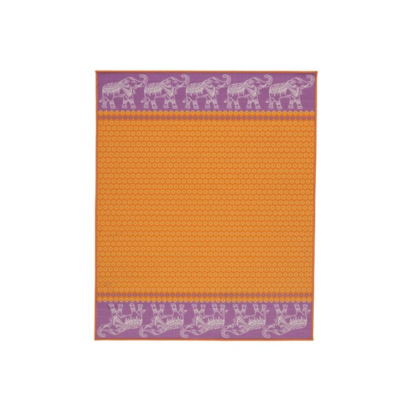 Grasmere Orange Area Rug by Bungalow Rose