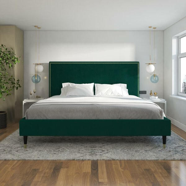 Audrey Upholstered Platform Bed by CosmoLiving by Cosmopolitan