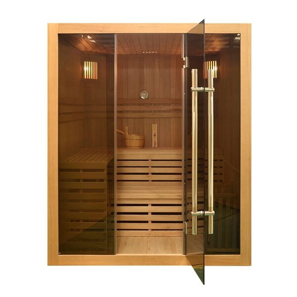 Canadian Hemlock 4 Person Traditional Steam Sauna by ALEKO