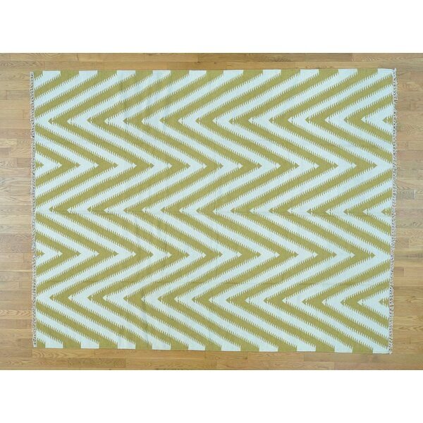 One-of-a-Kind Bradenville Chevron Handmade Kilim Wool Area Rug by Isabelline