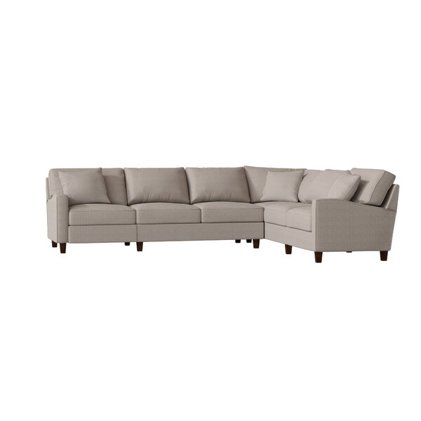 William Reversible Hybrid Recliner Sectional by Wayfair Custom Upholstery™
