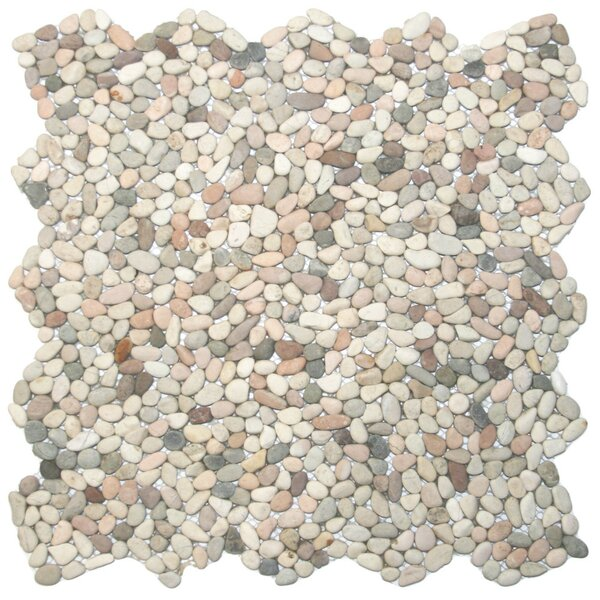 Sempu Random Sized Natural Stone Mosaic Tile in Beige/Cream by CNK Tile