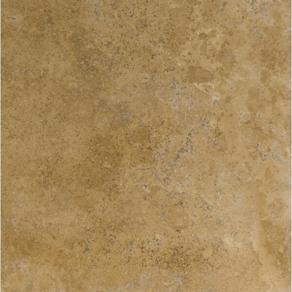 Travertine 18 x 18 Filled and Honed Field Tile in Noce Classic by Emser Tile