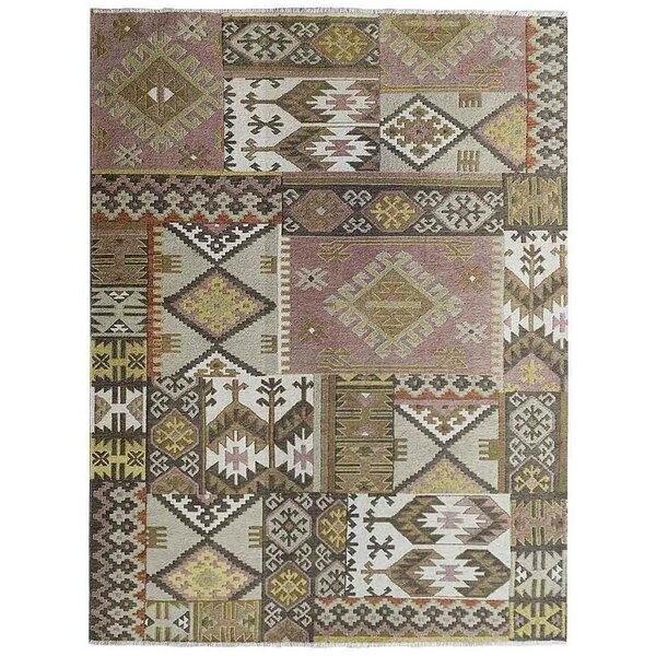 St Catherine Sumak Hand-Knotted Wool Beige Area Rug by Millwood Pines