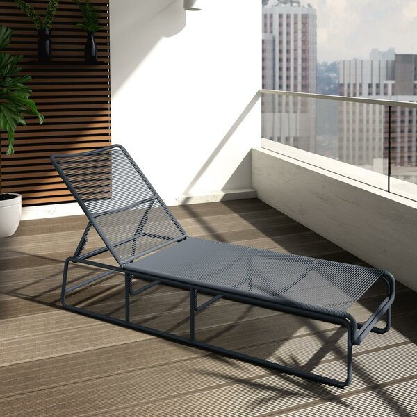 Nyla Adjustable Height Reclining Chaise Lounge by CosmoLiving by Cosmopolitan