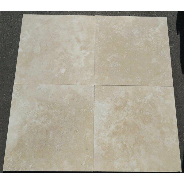 Turco Classico Cross Cut Honed 24x24 Travertine Field Tile