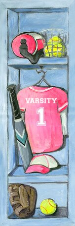 Softball Locker Canvas Art by Oopsy Daisy